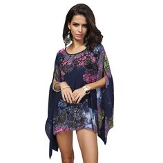Available Now on our store:  Boho Batwing Slee... Check it out here ! http://mamirsexpress.com/products/boho-batwing-sleeve-chiffon-blouse-women-casual-floral-print-loose-kimono-shirts-big-size-beach-tunic-tops-peplum-blusas-robe?utm_campaign=social_autopilot&utm_source=pin&utm_medium=pin