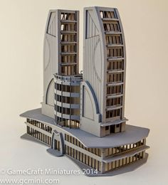 See what you think of this rather impressive looking building from GameCraft Miniatures that would make quite a good centrepiece for your smaller scale wargaming table. Minecraft Architecture, Hotel Architecture, Concept Architecture, Amazing Architecture, Architecture Design, Minecraft Plans, Minecraft City, Minecraft Blueprints, Minecraft Houses