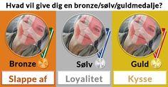 Hvad vil give dig en bronze/sølv/guldmedalje?