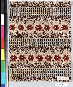 Sample Date: ca. 1840 Culture: French (Mulhouse) Medium: Cotton