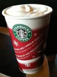 White Chocolate Peppermint Mocha...my husband and I get our little treat every year while out Christmas shopping...one of life's little moments!