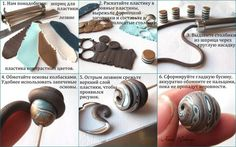 picture tutorial shows how to make these pretty beads