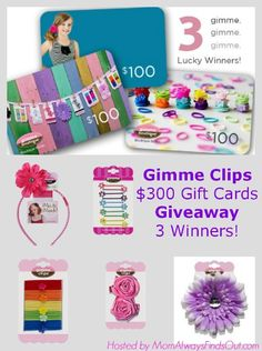 Gimme Clips Boutique Hair Accessories $300 Gift Cards Giveaway, 3 Winners! Ends 9/15 - Rude Mom