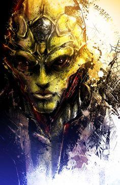 game fan art  me2 mass effect illustrator me3 assassin Thane