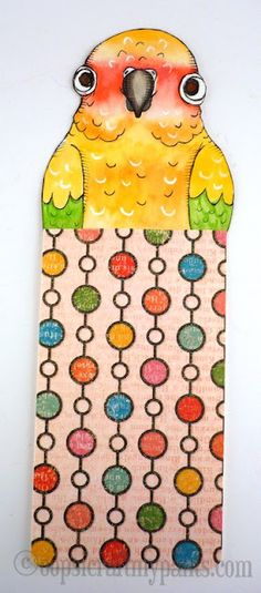 Oops, I Craft My Pants: Sun Conure Bookmark