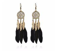 Wholesale feather earrings from Cheap feather earrings Lots, Buy from Reliable feather earrings Wholesalers. Blue Earrings, Feather Earrings, Dangle Earrings, Ethnic Jewelry, Indian Jewelry, Fashion Earrings, Fashion Jewelry, Fashion Fashion, Street Fashion