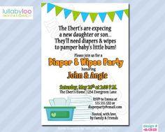 Free Diaper Party Invitations | Baby Diaper Invitation Template ...