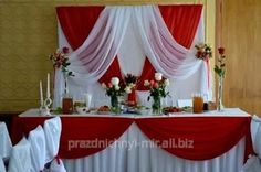 Backdrop Decorations, Balloon Decorations, Wedding Decorations, Backdrop Ideas, Elegant Wedding, Floral Wedding, Ivory Bridesmaid Dresses, Firefighter Wedding, Red And White Weddings