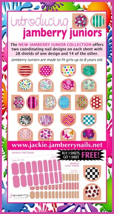 Jamberry Juniors! Visit my site at www.jackie.jamberrynails.net
