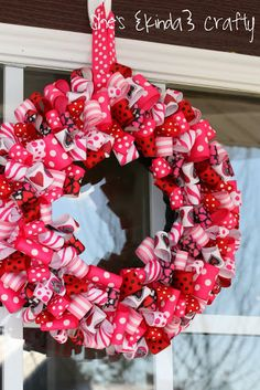 If you're a pink-loving gal (or have lots of extra ribbon lying around), this is the wreath for you. Get the tutorial from She's Kinda Crafty »