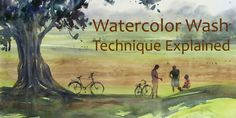 Correct and simple way of doing Watercolor Wash Technique explained with demonstration videos. Includes Watercolor Flat Wash and Graded Wash Watercolor Technique.