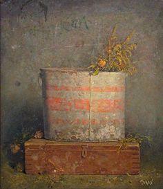 유 Still Life Brushstrokes 유 Nature Morte Painting by Kirill Doron | Bucket with Flowers
