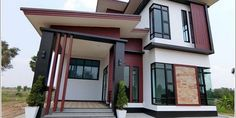 Get something new and different from a pronounced inspiring home. This eye catching house design with outstanding features will be a great concept for you. Beautiful House Plans, Beautiful Homes, Eye Pictures, Pinoy, Construction, House Design, Cool Stuff, Architecture, Outdoor Decor