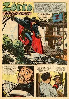 The ALEX TOTH archives: TOTH - FOUR COLOR COMICS 0933 Walt Disney's Zorro, September 1958