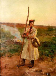Józef Chełmoński...............Kosynier 1906. Olej na płótnie. 87,1 x 67,3 cm.   Własność prywatna.