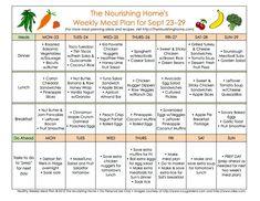 Bi-Weekly Meal Plan for September 16–29 - The Better Mom