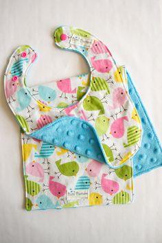 Hey, I found this really awesome Etsy listing at https://www.etsy.com/listing/156447376/baby-bird-bib-burp-cloth-set-cute-baby