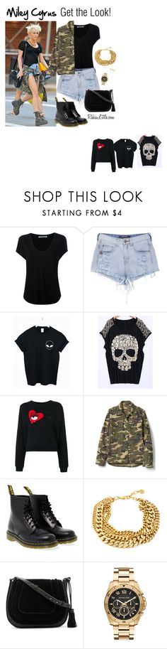 """Miley Cyrus - Get the Look"" by rakialittle on Polyvore featuring Alexander Wang, WithChic, Chiara Ferragni, Gap, Dr. Martens, Vince Camuto, Michael Kors, IBB, StreetStyle and summerstyle"