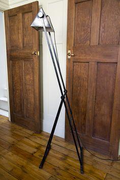 Geometric 1920's floor lamp Floor Lamp, Doors, Flooring, Lighting, House, Home Decor, Decoration Home, Home, Room Decor