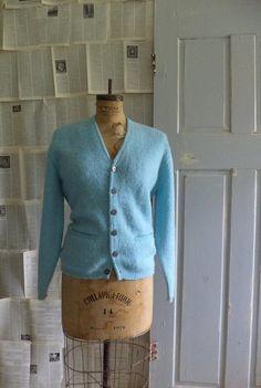 1960s Sky Blue Button Up Cadigan  $32.00