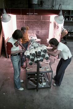 """gameraboy: """" Putting the finishing touches on the Rebel blockade runner Tantive IV for Star Wars. """""""