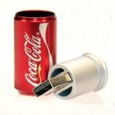 Newdigi® High Quality Coca Cola Can Shape USB Flash Memory Drive+gift box Coca Cola Can, Always Coca Cola, Pepsi, Coke, Usb Drive, Usb Flash Drive, Hub Usb, Flash Memory, Computer Accessories