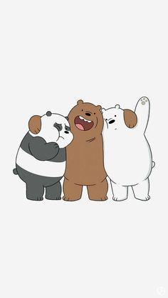 Three bare bears. So cute!