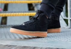 Nike Air Force 1 High Suede Black Gum