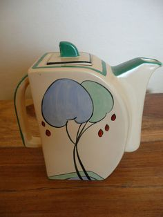Edna Best Art Pottery - Art Deco Coffee Pot