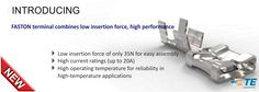 SHC GmbH - New FASTON terminal combines low insertion force, high performance