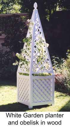 Outdoor Decoration With Wood Plant Stand Obelisk On Top By Accents Of France Planters And Pinterest Plants Gardens Arbors Trellis