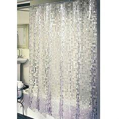 walmart excell home fashions disco vinyl shower curtain silver chryssa fashion