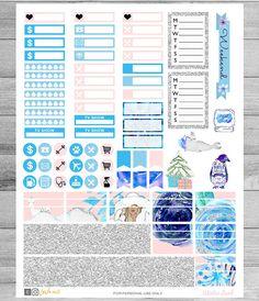 Winter Printable Planner Stickers Winter Weekly kit by LaViePrints Glam Planner, Weekly Planner, Happy Planner, Planners, Printable Planner Stickers, Free Printables, Cricut, Teacher Planner, Erin Condren Life Planner