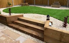 garden sleepers steps backyard decorating ideas retaining wall privacy fence - garden sleepers steps backyard decorating ideas retaining wall privacy fence The Effective Pictures - Back Garden Design, Backyard Garden Design, Backyard Patio, Backyard Landscaping, Backyard Privacy, Backyard Ideas, Patio Wall, Fence Ideas, Patio Design