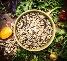 Wild rice with vegetables ingredient by VICUSCHKA on @creativemarket