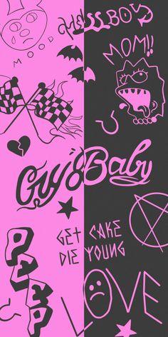 Lil Peep Tattoos Pink & Black Wallpapers - Wallpapers Clan