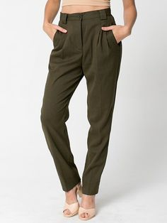 American Apparel - Calvary Twill High-Waist Pleated Pant. $79
