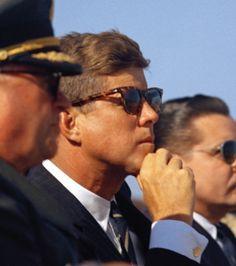 JFK wearing Ray Ban