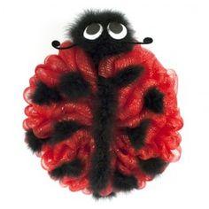 Deco Mesh Ladybug Wreath