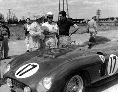 Fangio, Castellotti and de Portago at Sebring 1956 - Love Cars & Motorcycles Sports Car Racing, Road Racing, Race Cars, Auto Racing, Maserati, Bugatti, Vintage Race Car, Vintage Auto, Ferrari Racing