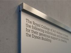 Royal College of Art | Wayfinding & signage | Cartlidge Levene