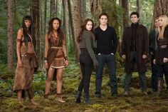 Edward and Bella with the tribal vampires.