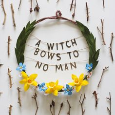 Pinterest: @MagicAndCats ☾ Witch Wreath