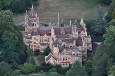 aerial view that shows how massive Friar Park is