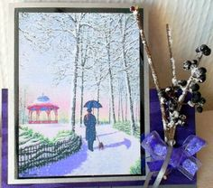 Winter Stroll Card  by Valerie Tupps  Using Gecko Galz Winters Garden Collage set