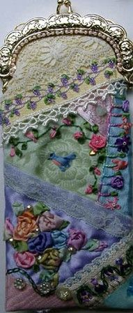 Crazy Quilt Embroidery and Quilting.