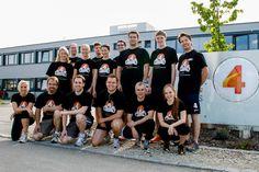 """Unsere """"Laufgruppe"""" vor dem m-net Firmenlauf 2012.  #Team #4SELLERS #Sport"""