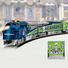 Seattle Seahawks Super Bowl Express Train Collection - this would be great under the Seahawks Christmas Tree