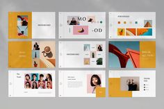 Orches Presentation on Behance Business Presentation, Presentation Templates, Presentation Layout, Professional Powerpoint Templates, Minimalist Fashion, Minimalist Style, Keynote Template, Mood Boards, Photo Wall