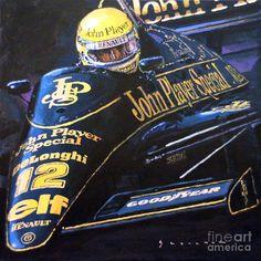 Acrilic Painting - Ayrton Senna Lotus 01 by Yuriy Shevchuk Acrilic Paintings, Art Paintings, Real Racing, F1 Racing, Lotus Car, Framed Prints, Canvas Prints, London City, Art Pages